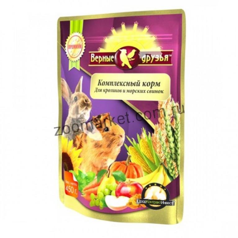 Верные Друзья Премиум Комплексный корм для кроликов и морских свинок, 450 гр