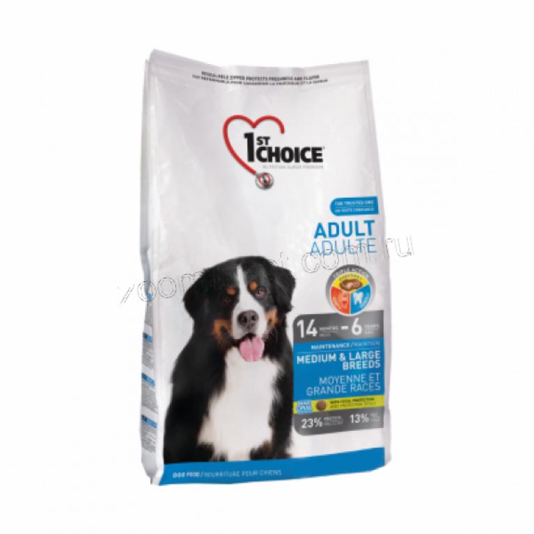1st Choice Adult Medium&Large Сухой корм для собак средних и крупных пород  (Курица)