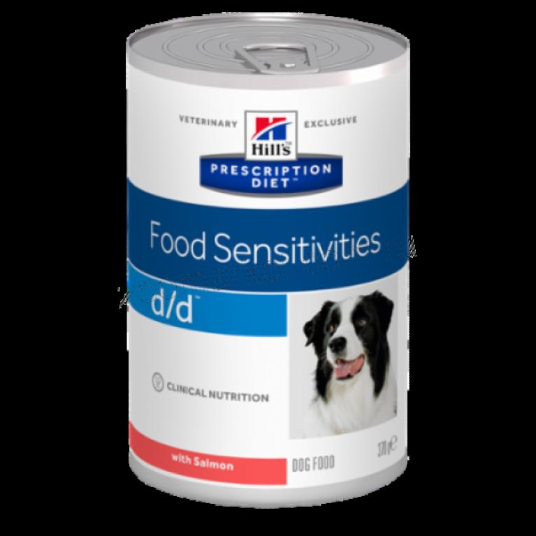 Hill's Prescription Diet D/D Консервы для собак лечение пищевых аллергий (Лосось) 370 г