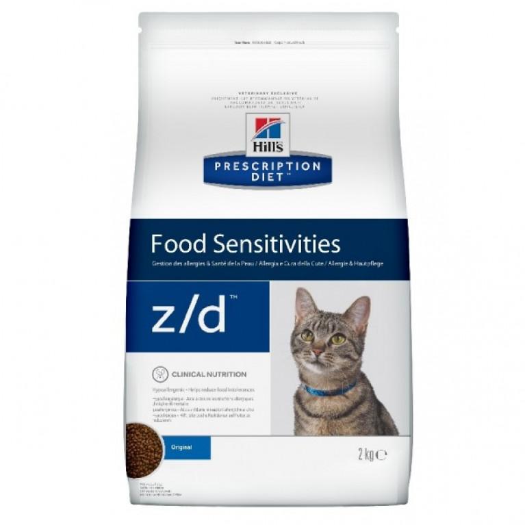 Hill's Prescription Diet Z/D Сухой корм для кошек лечение острых пищевых аллергий 2 кг