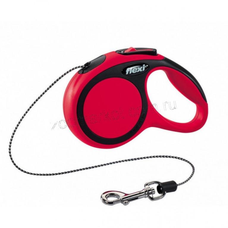Flexi New Comfort S Поводок-рулетка трос для собак до (5м/12кг)