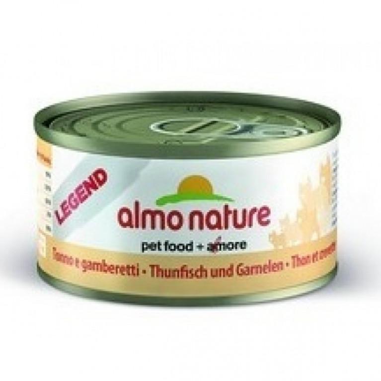 Almo Nature консервы для кошек с тунцом и креветками, 75% мяса, Legend HFC Adult Cat Tuna&Shrimps 70 гр