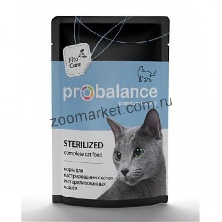 ProBalance Sterilized пауч для кастрированных котов и стерилизованных кошек 85 гр, 5 шт