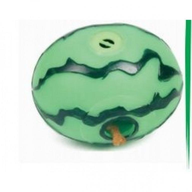 YUGI Игрушка для собак арбуз с отверстием для корма винил 10,5*8,5см