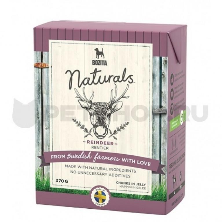 Bozita Naturals кусочки в желе для собак с олениной 370г