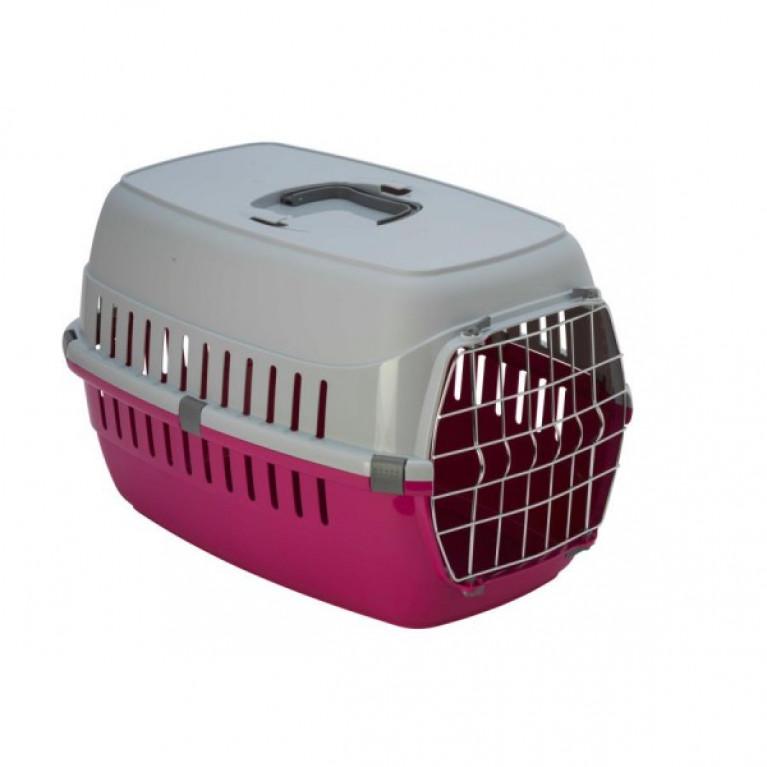 Moderna T101-0328 Переноска  с металлической дверью ярко-розовая до 5 кг, 48,5*32,3*30,1 см