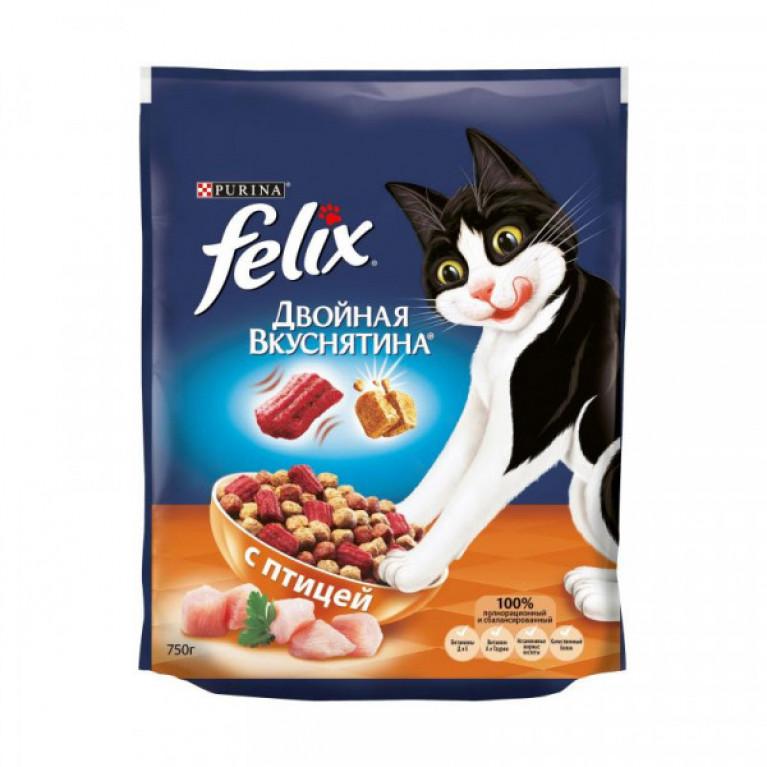 FELIX Сухой корм для кошек «Двойная вкуснятина», Птица