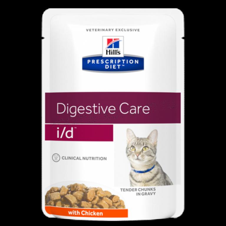 Hill's Prescription Diet  I/D Консервы для кошек лечение заболеваний ЖКТ 85 гр