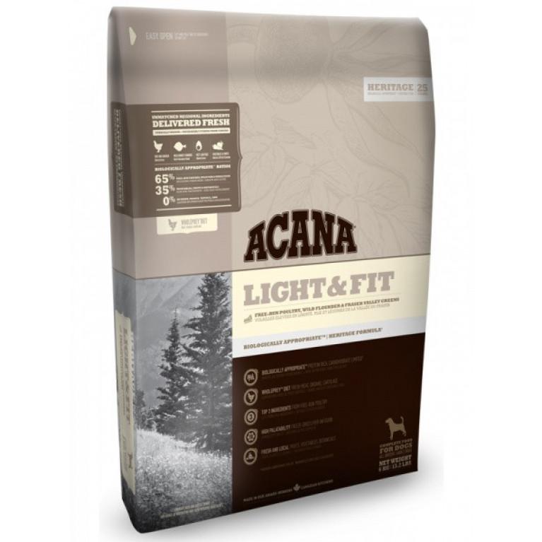 Acana Light&Fit Dog Полноценный и облегченный корм для собак всех пород (от года и старше)