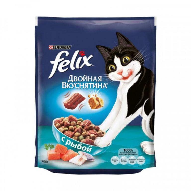 FELIX Сухой корм для кошек «Двойная вкуснятина», Рыба