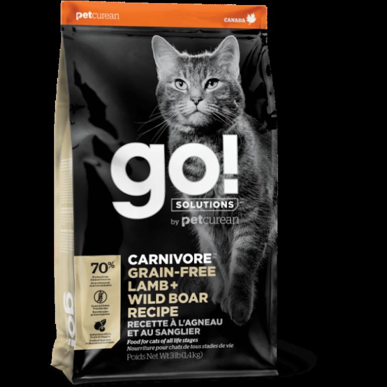 GO! CARNIVORE GF Lamb + Wild Boar Recipe CF Беззерновой для Котят и Кошек с Ягненком и мясом Дикого Кабана