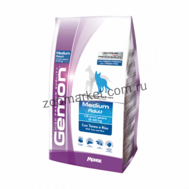 Gemon Dog PFB 24/12 Сухой корм для взрослых собак пород (Тунец с рисом) 20 кг