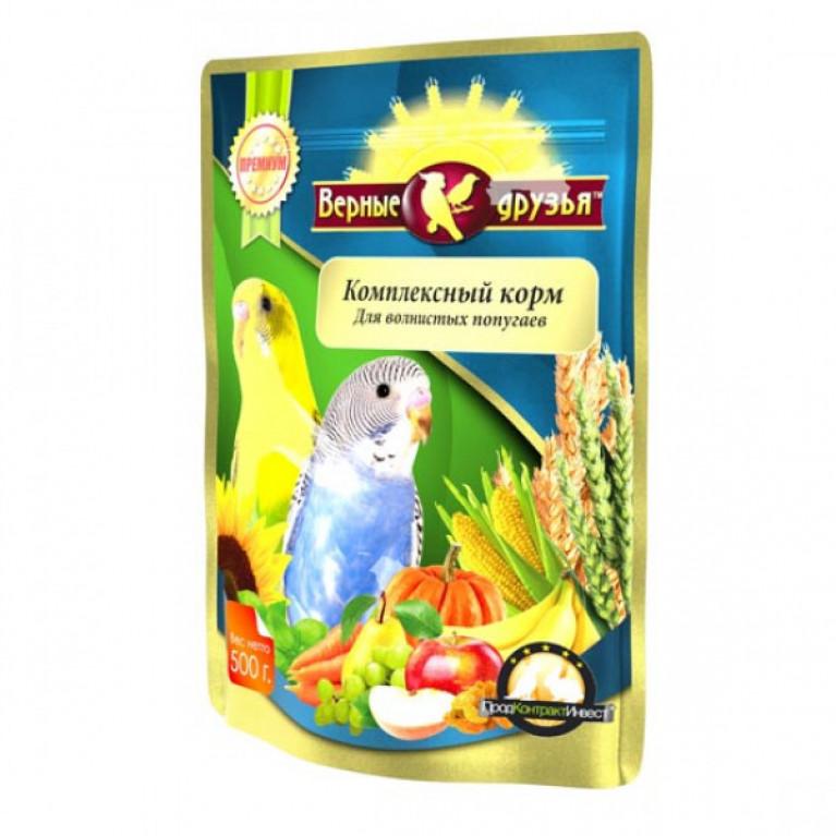 Верные Друзья Премиум Комплексный корм для волнистых попугаев 500гр
