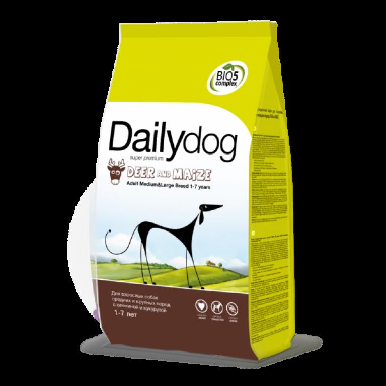 Dailydog MEDIUM LARGE BREED Deer & Maize/Для взрослых собак средних и крупных пород с олениной и кукурузой
