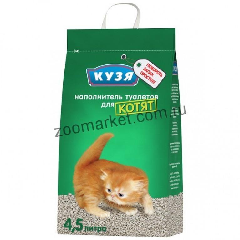 Кузя Наполнитель для котят минеральный, 4,5 л