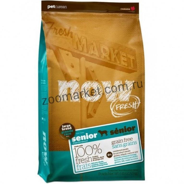 Now Fresh Senior Large Breed Recipe Grain Free/Беззерновой корм для пожилых или с избыточным весом собак крупных пород с индейкой, уткой и овощами