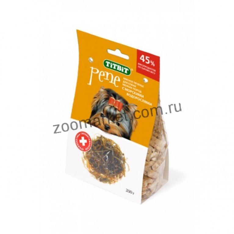 TiTBiT PENE Печенье  д/мелк собак с морскими водорослями, 200 г