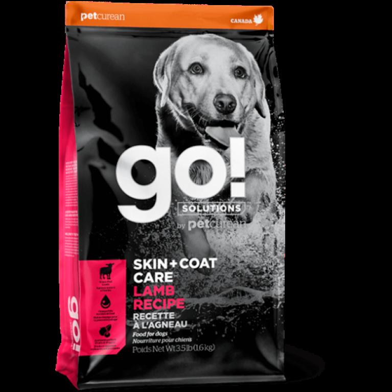 GO! SKIN + COAT Lamb Meal Recipe DF Низкозерновой корм для Щенков и Собак со свежим Ягненком