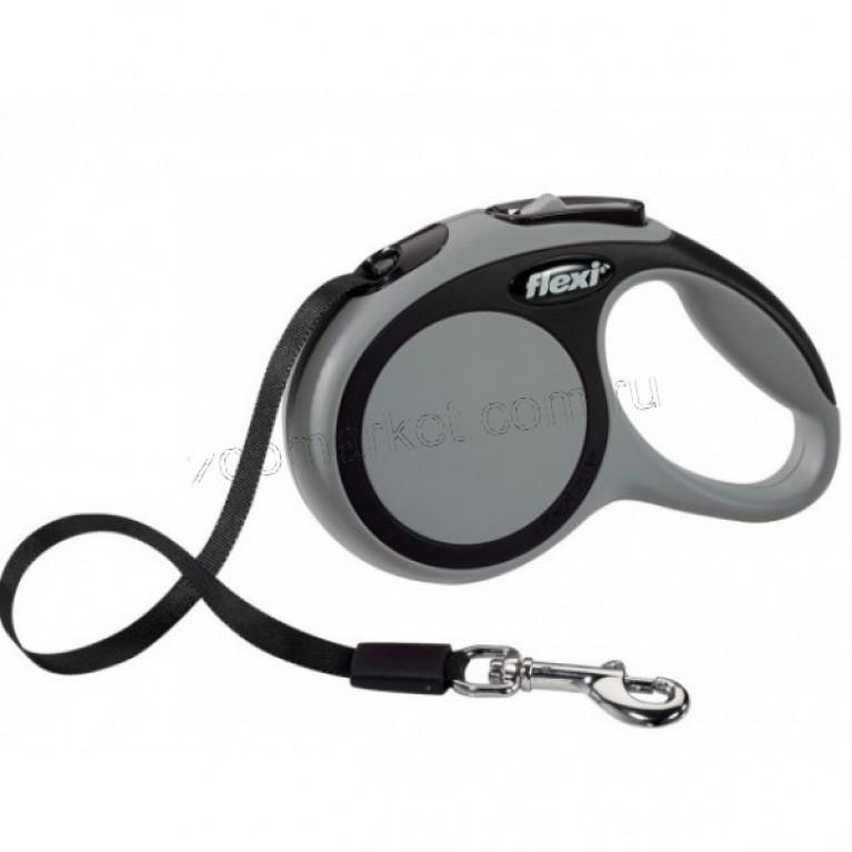 Flexi New Comfort ХS Поводок-рулетка ремень для собак до (3м/12кг)