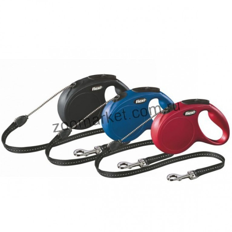 Flexi New Classic S/Рулетка с тросом подходит для собак весом до 12 кг