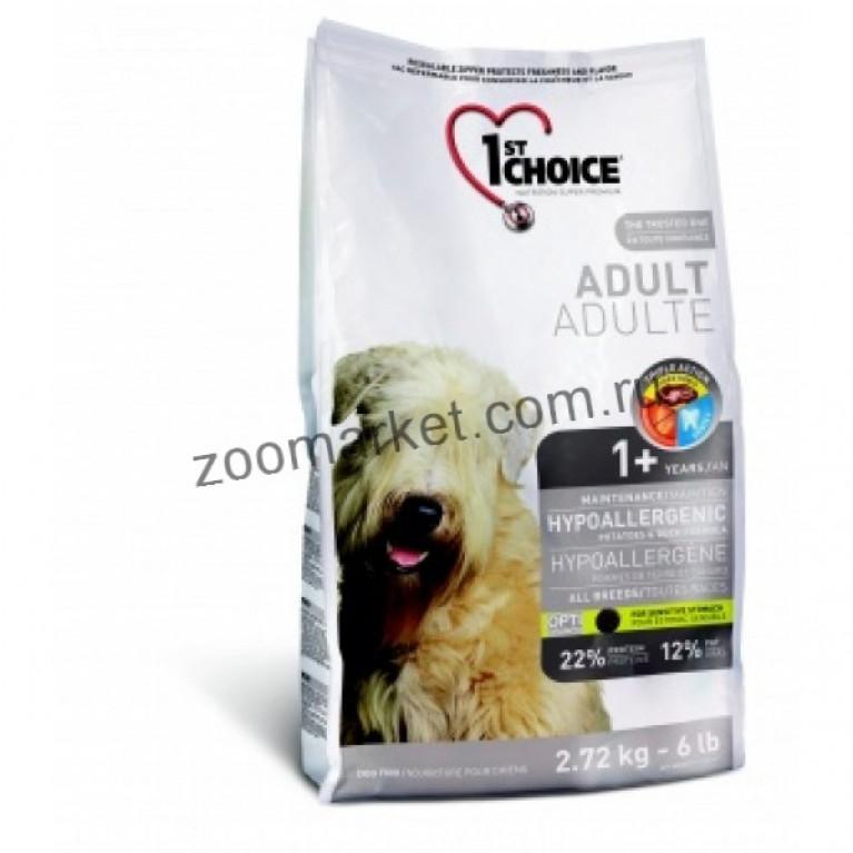 1stChoice Adult/ Сухой Гипоаллергенный корм для собак (утка/картофель)