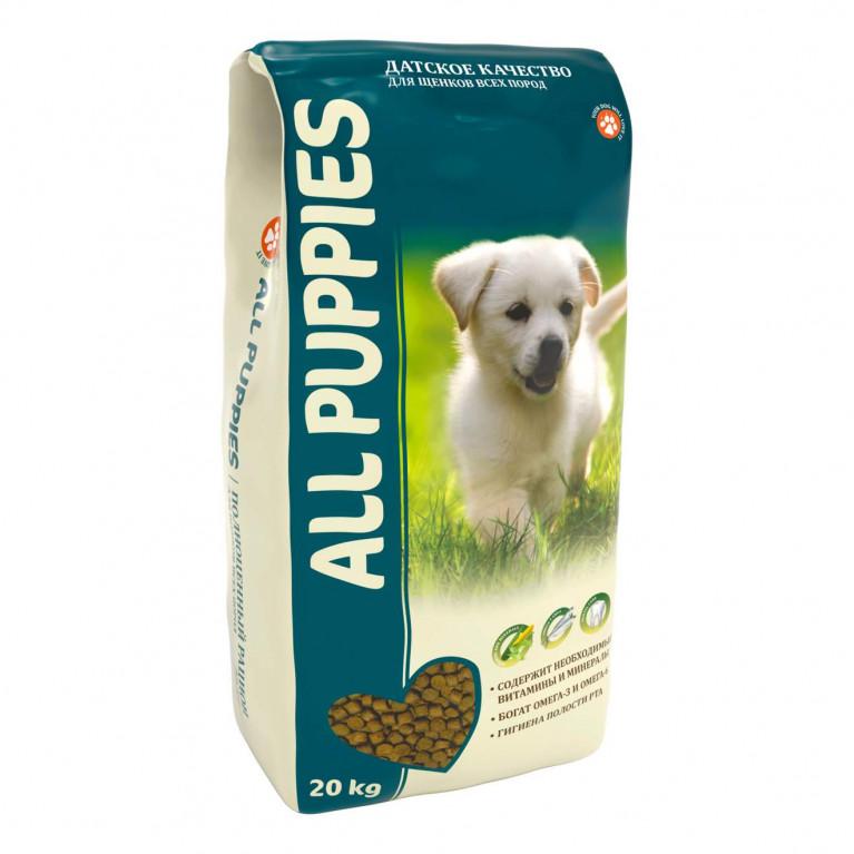 ALL PUPPIES сухой полнорационный корм для щенков всех пород, размеров, возрастов и уровней активности