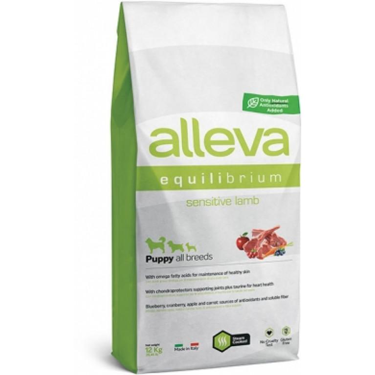Alleva Equilibrium Sensitive  сухой корм для щенков средних и мелких пород (Ягненок)