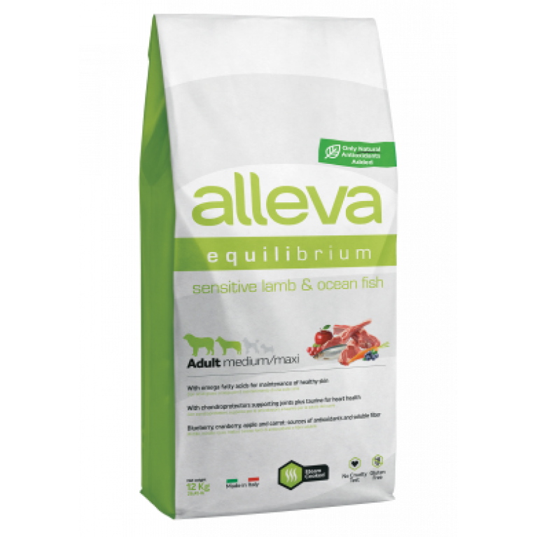 Alleva Equilibrium Sensitive Small Breed сухой корм для взрослых собак мелких и средних пород  (С ягненком и океанической рыбой)