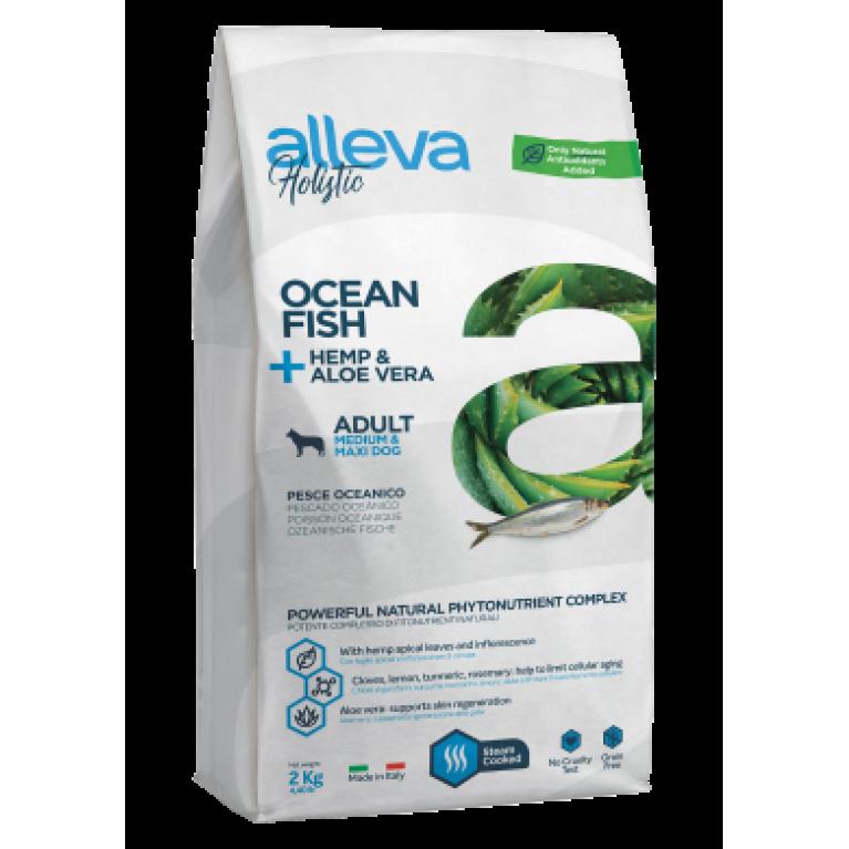 Alleva Holistic беззерновой сухой корм для взрослых собак средних и крупных пород (Океаническая рыба, конопля и алое вера)