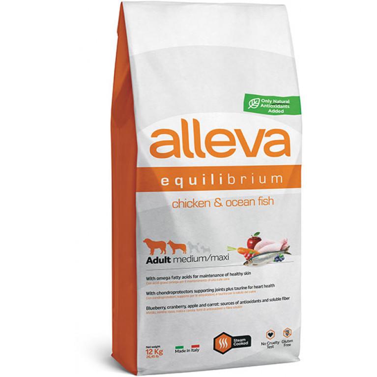 Alleva Equilibrium All Day Maintenance Chicken & Ocean Fish Adult Dog All Breeds сухой корм для собак всех пород с курицей и океанической рыбой
