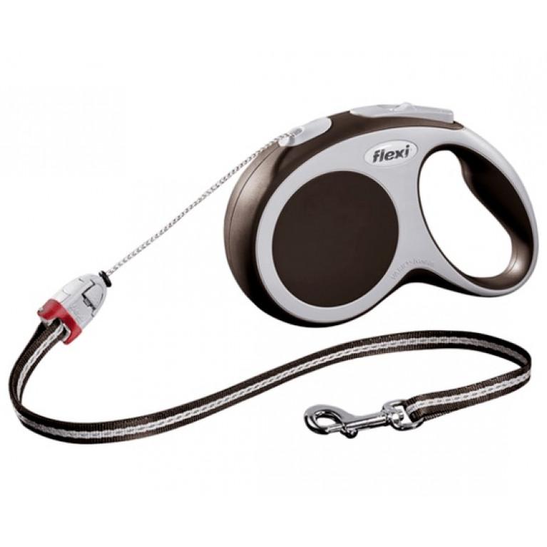 Flexi VARIO M Поводок-рулетка трос 5 метров для собак до 20 кг