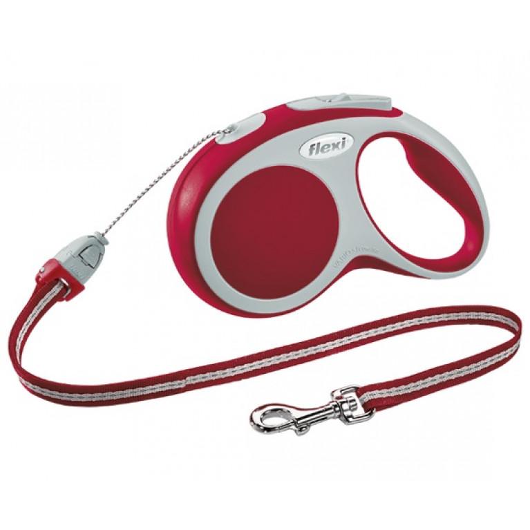 Flexi VARIO S Поводок-рулетка трос 5 метров для собак до 12 кг