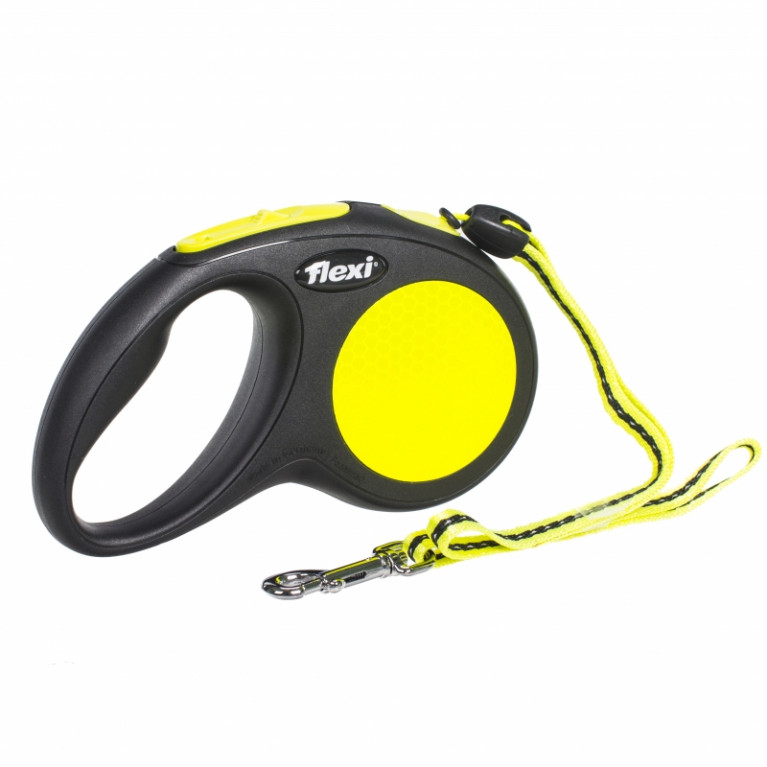 Flexi New Neon S  Поводок-рулетка 5 метров для собак до 12 кг