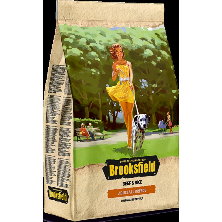 Brooksfield Adult Dog All Breeds для собак всех пород (Говядина рис)