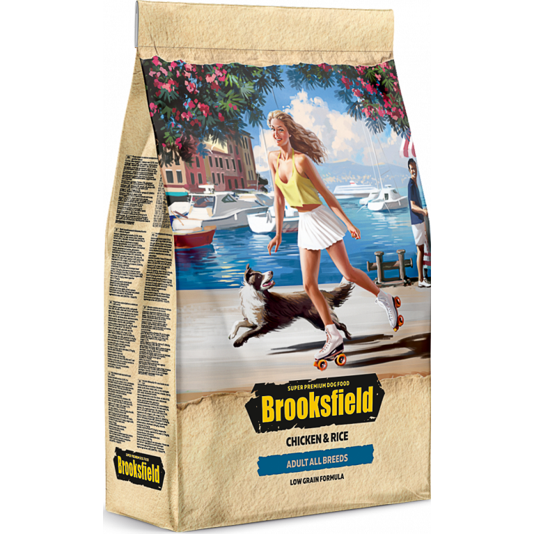 Brooksfield Adult Dog All Breeds для собак всех пород (Курица рис)