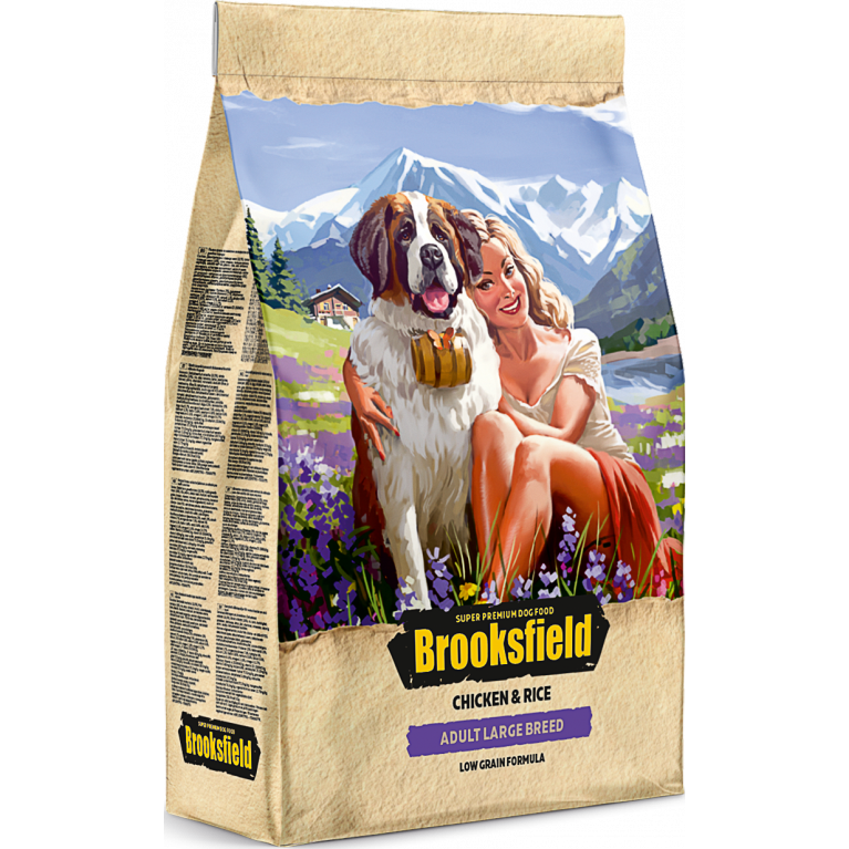 Brooksfield Adult Dog Large Breed для взрослых собак крупных пород (Курица рис)