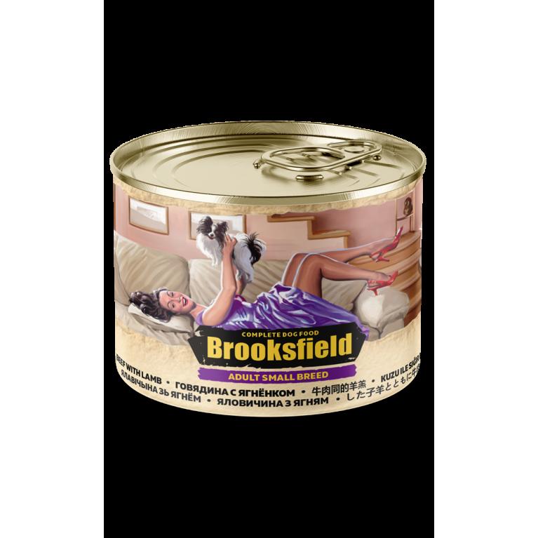 BROOKSFIELD ADULT ALL BREEDS консерва для взрослых собак мелких пород (Говядина ягненок рис) 200гр