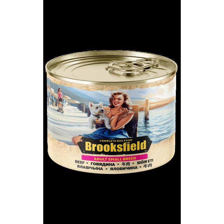BROOKSFIELD ADULT ALL BREEDS консерва для взрослых собак мелких пород (Говядина  рис) 200гр