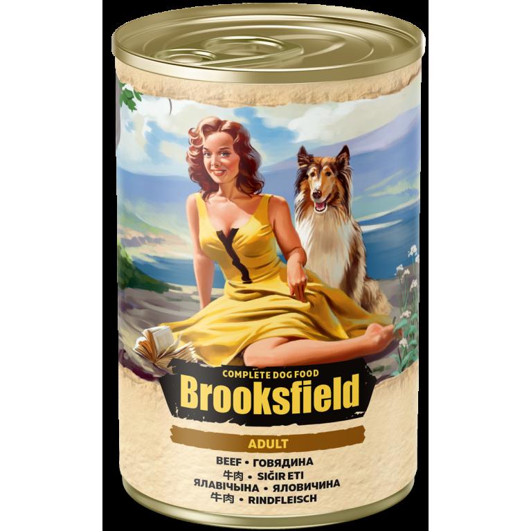 BROOKSFIELD ADULT ALL BREEDS консерва для взрослых собак всех пород (Говядина коричневый рис) 400гр