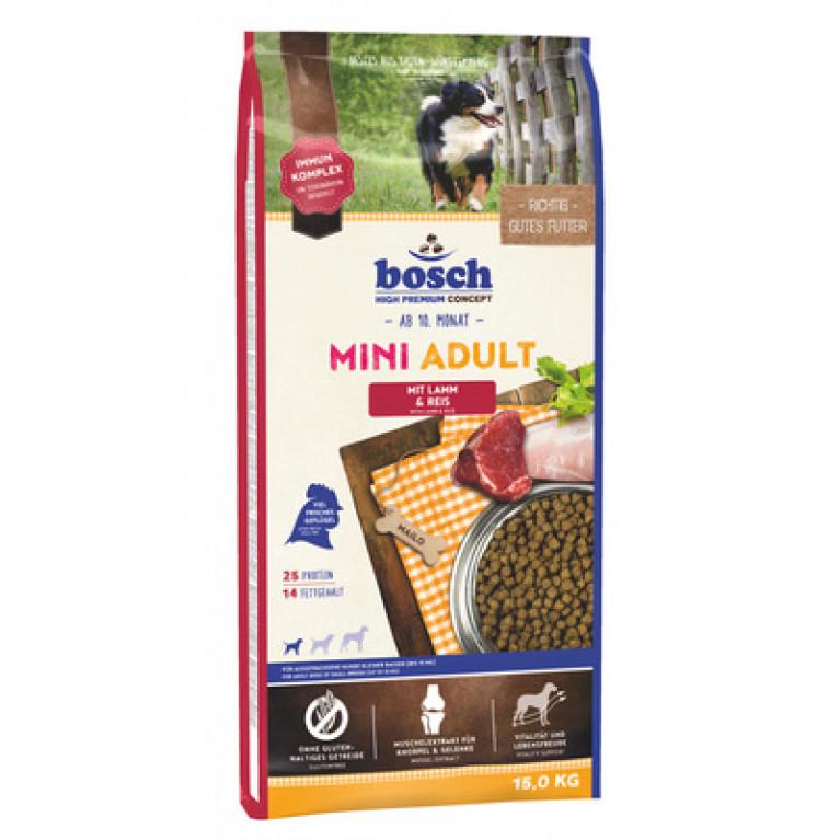 Bosch Mini Adult Lamb & Rice для собак малых пород, с ягнёнком и рисом