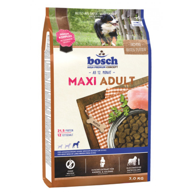 Bosch Maxi Adult  для взрослых собак крупных пород с мясом птицы