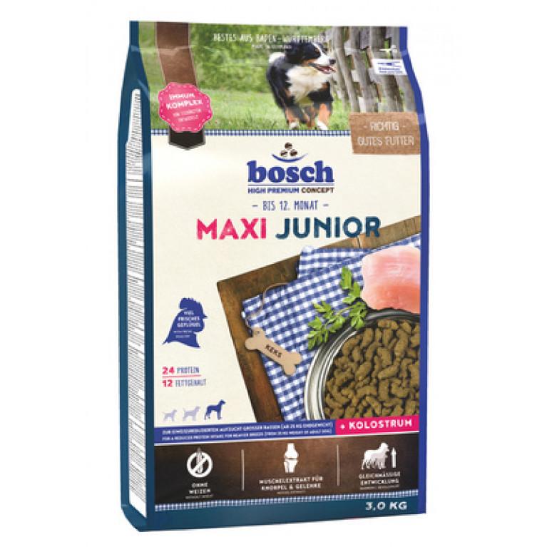 Bosch Maxi Junior для щенков крупных пород  с мясом птицы