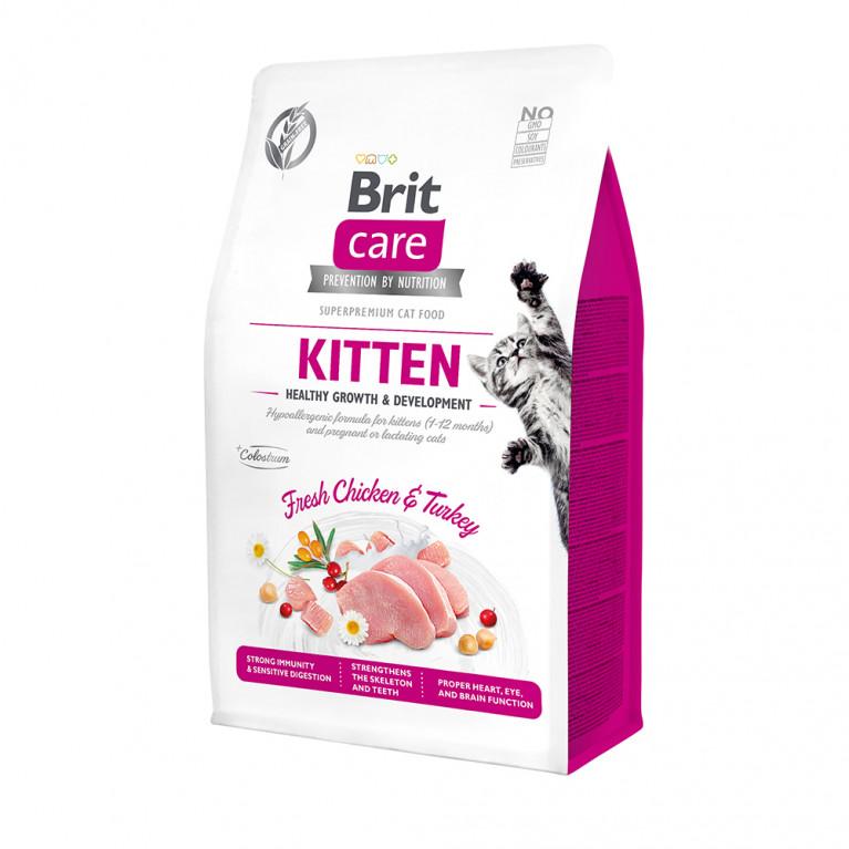 Brit Care Cat GF Kitten Healthy Growth & Development Гипоаллергенный беззерновой корм для котят, беременных и кормящих кошек