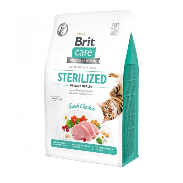 Brit Care Cat GF Sterilized Urinary Health Гипоаллергенный беззерновой корм для стерилизованных кошек Профилактика МКБ