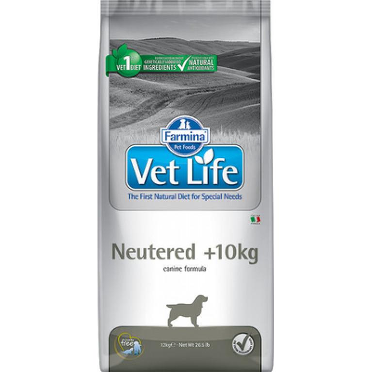 Farmina Vet Life Dog Neutered +10kg  Питание для стерилизованных собак весом более 12кг