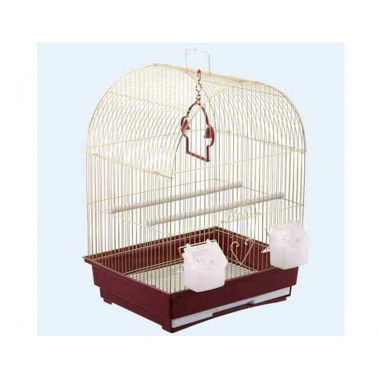 З/К/Клетка для птиц Средняя, Круглая крыша (35*28*46см) Золото
