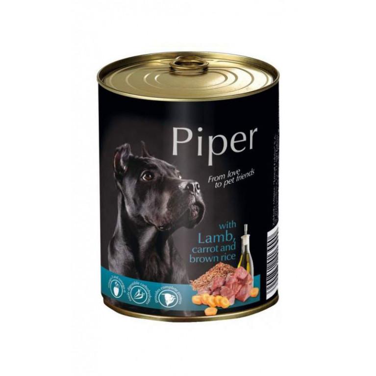 DOLINA NOTECI PIPER c ягнёнком, морковью и коричневым рисом для взрослых собак 800 гр