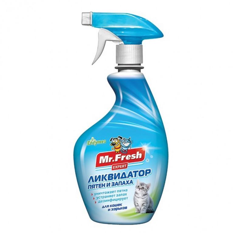 "Mr. Fresh ""Expert 3 в 1"" Спрей Ликвидатор пятен и запаха для кошек и хорьков 500мл"