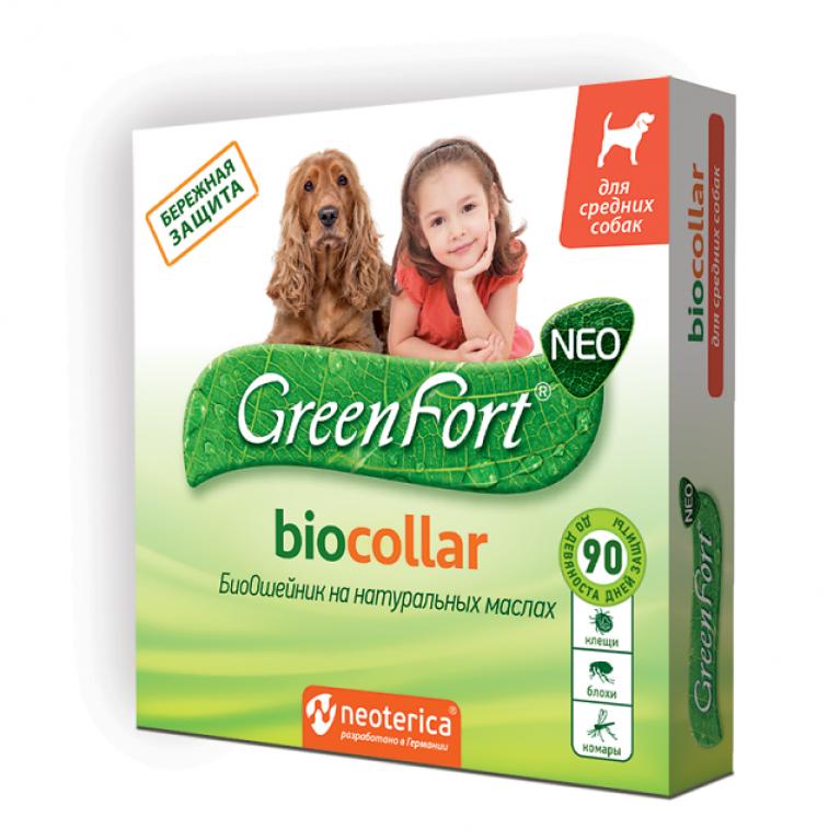 Green Fort Neo Биоошейник для собак средних пород, 65 см