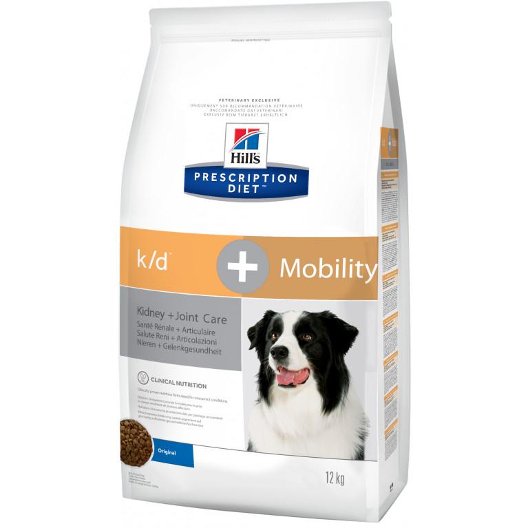 Hill's Prescription Diet K/D+  Mobility  Сухой корм для собак, для поддержания подвижности и качества жизни собак с заболеваниями почек
